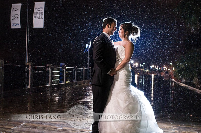 Picture or Bride & Groom in Downtown Wilminton RIverfront